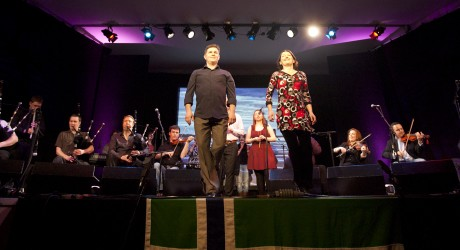 Dancers Frank McConnell and Sandra Robertson at Ceòlas' concert at Celtic Connections 2012