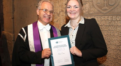 Iona Corse and the University's Dr Jeff Howarth
