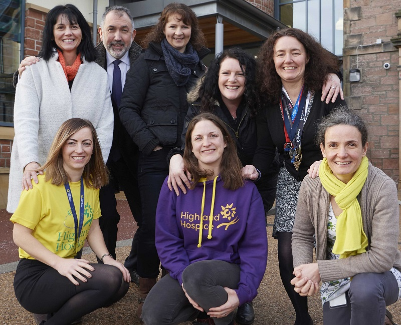 Media release: University staff raise over £6,000 for Highland Hospice