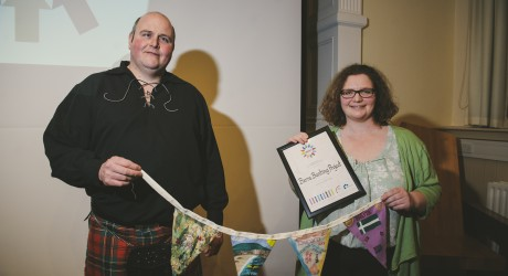Barra Bunting at Award Ceremony