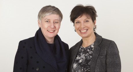 From left to right- Jackie Shearer and Julie Tait. Photograph by Iseult Timmermans